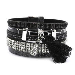 """""""Black Tie Affair"""" Charm Wrap Magnetic Bracelet"""